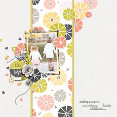 Scrapbook page uses Just Peachy Products
