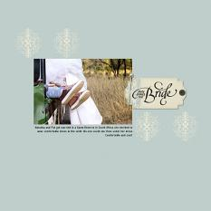 """""""Here Comes the Bride"""" digital scrapbook layout by Andrea Hutton"""