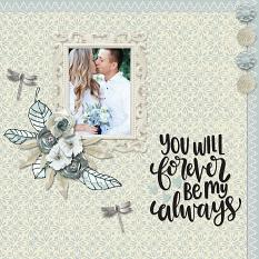 """Forever"" digital scrapbook layout by Carmel Munro"