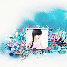 Layout using ScrapSimple Digital Layout Collection:Blues