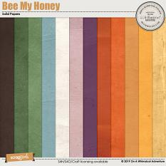 Bee My Honey Solid Papers by On A Whimsical Adventure