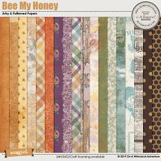 Bee My Honey Patterned and Artsy Papers by On A Whimsical Adventure