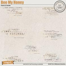 Bee My Honey Poems And Quotes by On A Whimsical Adventure