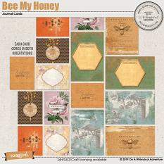 Bee My Honey Journal Cards by On A Whimsical Adventure