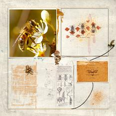 Digital layout using Bee My Honey by On A Whimsical Adventure