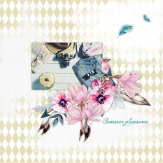 Layout by Marie Orsini using Summertime Collection Mini by Aftermidnight Design