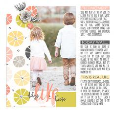 Scrapbook page using Storyteller Photo Book and Layout Templates