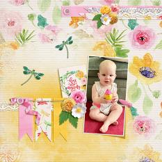 """""""You are Amazing"""" digital scrapbook layout by Andrea Hutton"""