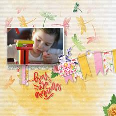 """""""You are Amazing"""" digital scrapbook layout by Marie Hoorne"""