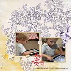 """""""You are Amazing"""" digital scrapbook layout by Sondra Cook"""