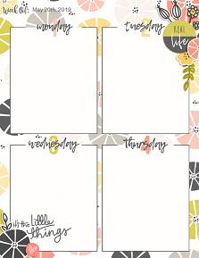 Planner page created using Planner Perfect customizable templates