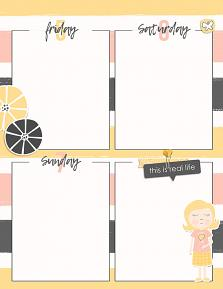 Printable Planner page created using Planner Perfect customizable templates