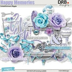 Happy Memories Embellishment Biggie by DRB Designs | ScrapGirls.com