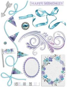 Happy Memories Embellishment Sheet 01 (Shadows not included)