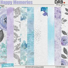 Happy Memories Paper by DRB Designs | ScrapGirls.com
