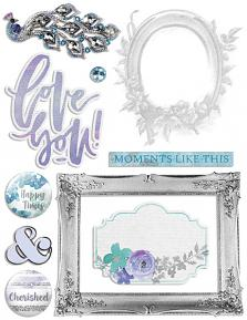 Happy Memories Embellishment Sheet 02 (Shadows not included)