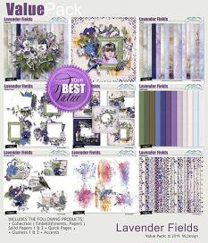 Lavender Fields Solid Papers details
