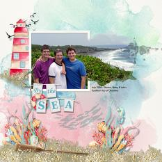 Layout using ScrapSimple Digital Layout Collection:Wonderful Sea