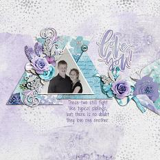 """Love You"" digital scrapbook layout by Shauna Trueblood"