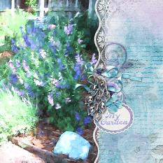 """My Garden"" digital scrapbook layout by Sondra Cook"