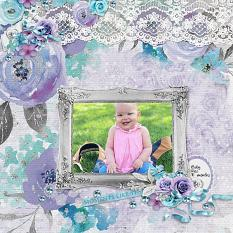 """""""Moments Like This"""" digital scrapbook layout by Andrea Hutton"""