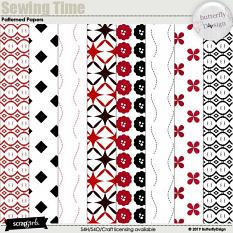 Sewing Time Patterned Papers