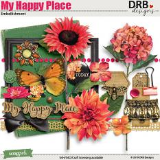 My Happy Place Embellishment by DRB Designs | ScrapGirls.com