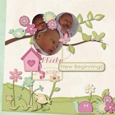 Layout Made With New Beginnings Collection By Charly Renay