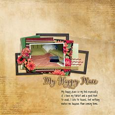 """My Happy Place"" digital scrapbook layout by Shauna Trueblood"