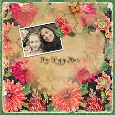 """My Happy Place"" digital scrapbook layout by Shannon Trombley"