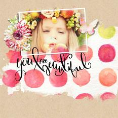 Layout created using Watercolor Blends Brushes and Templates VOL. 4