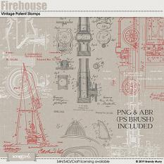 Also available Firehouse Vintage Patent Stamps