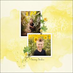 Layout using ScrapSimple Digital Layout Collection:Sunflower