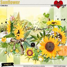 ScrapSimple Digital Layout Collection:Sunflower