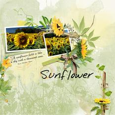 Layout using ScrapSimple Digital Layout Templates:Sunflower