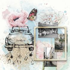 Layout by Marie Orsini using Remember the good times Collection Mini by Aftermidnight Design
