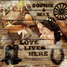 Scrapbook Layout Created with Branded Wood Kit