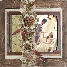 Wedding layout using Backroads Collection Biggie