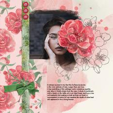 Layout using ScrapSimple Digital Layout Collection:Peony