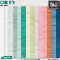 Chic Life Solid Papers