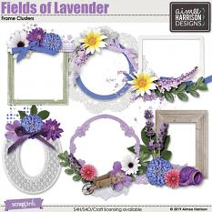Fields of Lavender Frame Clusters