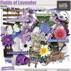 Fields of Lavender Embellishments