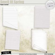 Smell Of Spring paper journal