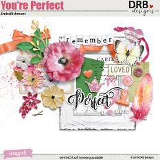 You're Perfect Embellishment by DRB Designs | ScrapGirls.com