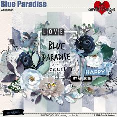 ScrapSimple Digital Layout Collection:Blue Paradise