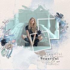 Layout using ScrapSimple Digital Layout Collection:Blue Paradise