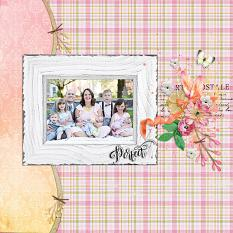 """Perfect"" digital scrapbook layout by Andrea Hutton"