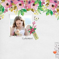 """Remember"" digital scrapbook layout by Geraldine Touitou"