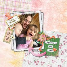 """Say Aaaah"" digital scrapbook layout by Andrea Hutton"