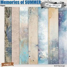layout using Memories Of SUMMER Collection Biggie by Florju Designs